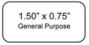 """TT Cryo-Tags 1.50"""" x 0.75""""  4k/roll"""
