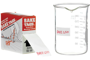 "Bake Tags 1.50 x 0.75""  250/roll"