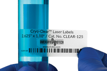 "Cryo-Clear Laser Labels 2.625"" x 1.00"" 600/pk"