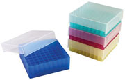 81-Well Microtube Storage Box, assorted 5/pk