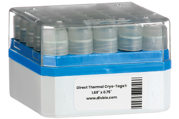 "DT Cryo-Tags 1.69"" x 0.75"", 500/roll"