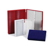 Economy 100 Place Slide Boxes, Red
