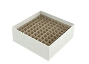 "2"" Freezer Box w/100 hole divider"