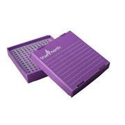 Flat-Pack Freezer Boxes(10) 0.2ml tubes, purple
