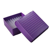Flat-Pack Freezer Boxes(10), 1.5/2ml tubes, purple