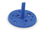 Round Floating Tube Rack, blue  5/pk