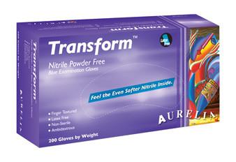 Transform nitrile gloves, Large, 200/bx