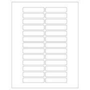Clear over White Laser Tough-Tags  520/pk
