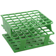 36-Place Half OneRack for 16mm tubes, green