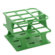 9-Place Half OneRack for 30mm tubes, green