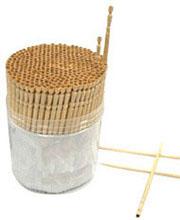 Kokeshi-style Toothpicks, 350/pk