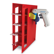 Manual Pipet Rack, red