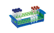 Pivot-Rack for 5ml/15/ml/16mm tubes, blue/green