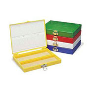 100-Place Micro. Slide Box, Red