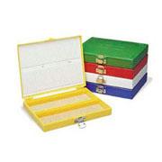 100-Place Micro. Slide Box, White