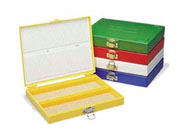 100-Place Micro. Slide Box, Yellow