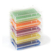 Low Temp. 96-well PCR rack, asst., 5/pk