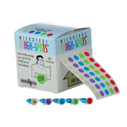 "3/8"" Tough-Spots, 5-up assorted colors 5,000/roll"