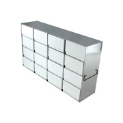 "4 x 4 Freezer Rack, holds (16) 3"" boxes"