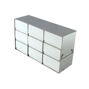 "3 x 3 Freezer Rack, holds (9) 3"" boxes"