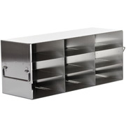 "3 x 3 Freezer Rack, holds (9) 2"" boxes"