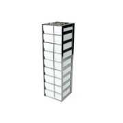 "1 x 9 Freezer Rack, holds (9) 2"" boxes"